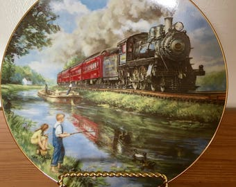"An American Classic Hamilton Plate, ""The Golden Age of Railroads"""