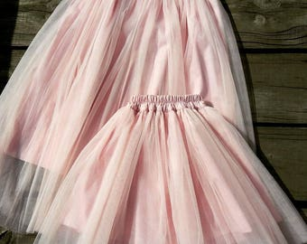 Tulle skirt. Length tulle skirt. Women tulle skirt. Bridal tulle skirt. Wedding tulle skirt. Color tulle skirt. Mom and daughter skirt tulle