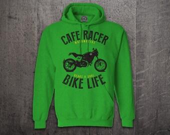 Cafe Racer hoodie, biker hoodies, motorcycle hoodies, car hoodie, Bike life hoodies, funny hoodies, biker t shirts Unisex Hoodies Motomotive