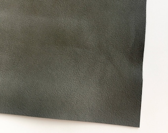 Pewter Smooth Vegan Faux Leather