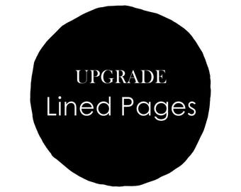 Lined Pages for Guest Book - upgrade only //  Rustic Wedding Guest Book Wooden Guestbook Wood Guest Book Wedding