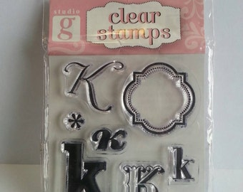 "Studio G Clear Stamp - Monogram Letter ""K"""