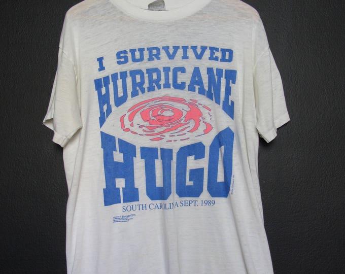 I Survived Hurricane Hugo 1989 Vintage Tshirt