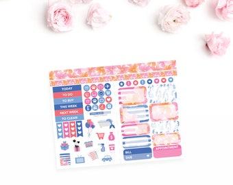 TN Planner Sticker Kit / Fleurs in Bloom Kit / Pocket No. 2 / Personal No. 4