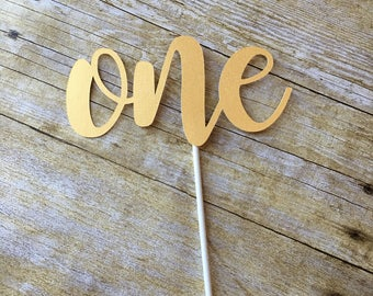 One Cake Topper- First Birthday Cake Topper- I am One Cake Topper - First Birthday -ONE -