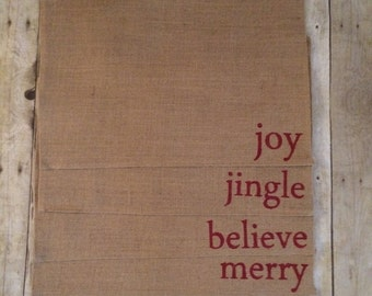 Christmas Burlap placemats- burlap placemats- Christmas kitchen- Christmas gift- placemat- Christmas gift- kitchen placemats