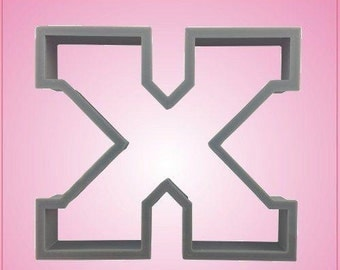 Varsity Letter X Cookie Cutter