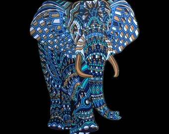 Sapphire Elephant Bioworkz enamel hat pin  - Limited edition of 100
