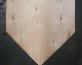 Baseball, Home plate, door hanger, wall hanging