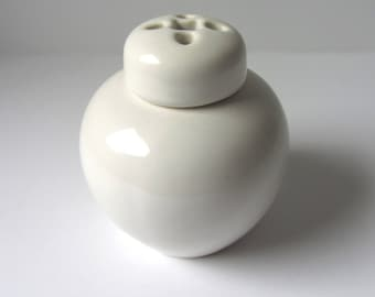 White Ceramic Ginger Jar