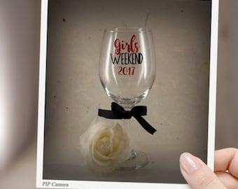 Girls Weekend, Girls Getaway, Personlize glass