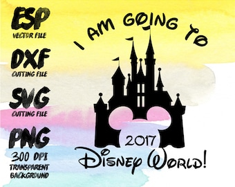 I am going to disney 2016 Mickey Clipart SVG Cutting ESP