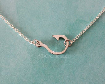 Fish Hook Necklace - Hook Necklace - Choker Chain - Choker Necklace - Sinner Jewelry - Sinner Gift - Gold - Silver - Gift Ideas - BFF - Gift