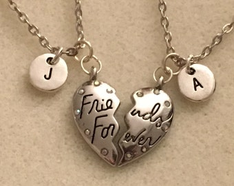 Heart necklace for best friend gift ideas friendship necklace personalized gift for bestfriend birthday gift best friend necklace