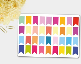 Mini Page Flag Stickers, Planner Stickers, Blank Flag Stickers,Bright Flag Stickers,Reminder Sticker, Scrapbook Sticker,Erin Condren