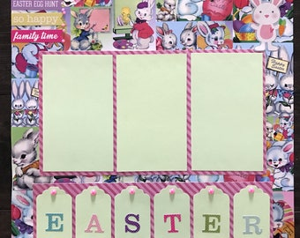 "Easter 12x12"" Premade Scrapbook Page"