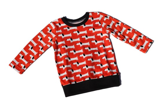 Red Rover Organic Cotton Long SleeveWaistband Tee / Sweater / Sweatshirt