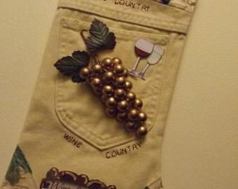 "The ""WINE"" stocking"