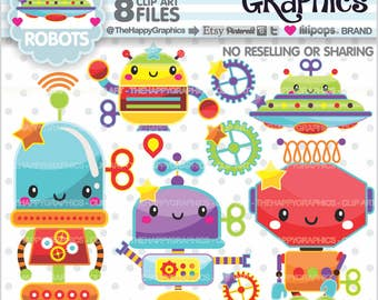 80%OFF - Robot Clipart, Robot Graphic, COMMERCIAL USE, Robot Party, Planner Accessories, Robot Clip Art, Cute Graphic, Cute Clipart