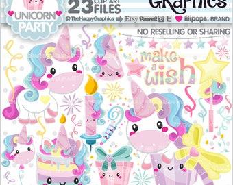 80%OFF - Unicorn Clipart, Unicorn Graphics, COMMERCIAL USE, Unicorn Party, Magical, Magic, Cute Unicorn, Unicorn Illustration, Kawaii, Cute