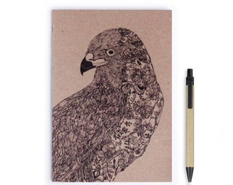 Notebook Personalise - Eagles ,Birds, Stationery, Recycled Paper, Lined, Blank Paper, Notebook, Hand drawn, Journal, Personalized