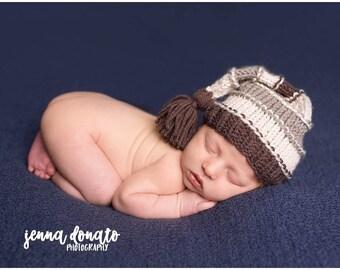 Sleepy Hat, Stocking Hat, Sleepy Cap, Knit Sleepy Cap, Newborn Hat, Baby Elf Hat, Long Tail Hat, Newborn Tassel Hat, Knit Baby MADE 2 ORDER
