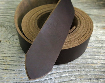 Horween Chromexcel Leather Strap -Dark Brown- 9-10oz - 3.6-4mm+- Thick - 80+ Inches Long - Belt Kit - CXL