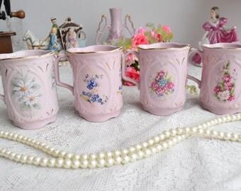 Coffee mug set vintage porcelain mug Slav porcelain pink coffee mug HC gift coffee mugs rose porcelain vintage coffee mug vintage luxury