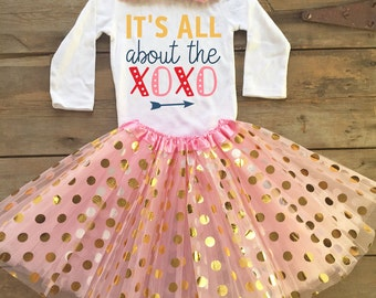 Baby Girl Valentines Outfit - Valentine's Outfit for Girl - Baby Valentine's Day Bodysuit - Valentines Baby Bodysuit - Girl Valentines Shirt