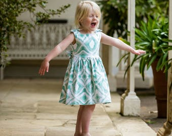 Party dress, mint green dress, girls party dress, toddler dress, summer dresses,first birthday outfit, special occasion, baby girl, party