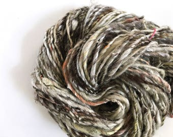 Handspun Art Yarn Single, Bulky, 100 yds