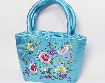 Darling Handmade Embroidered Purse Satchel Handbag