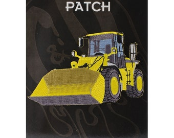 "Bulldozer Iron On Patch 4"" x 2.4"" by C&D Visionary P-4196 ***Does not come with black backing***"