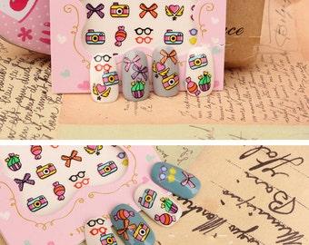 Nail Sticker ,Nail Art  , Nail deco , nail accessory,nail decoration ,