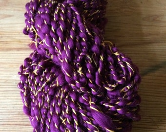 Purple Drums - funky hand spun yarn