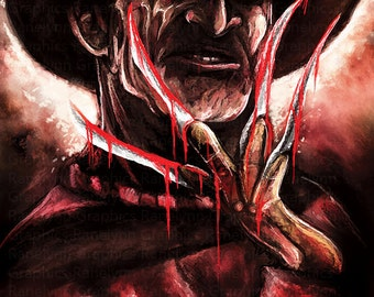 Freddy Krueger Glossy Poster Print - Free USA Shipping