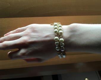 Gothic Faux Pearl Bracelet