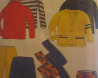 Boss New Look 6792 sweater, pants, scarf, jacket, skirt for kids... size 3 to 8 years