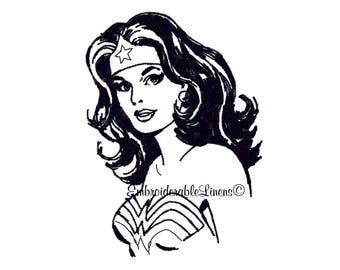 Wonder Woman Embroidery Design-Machine Embroidery Designs - INSTANT DOWNLOAD