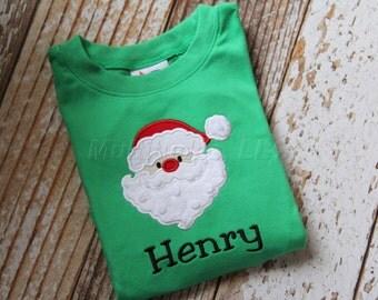 Boy/Girl Santa Applique Shirt
