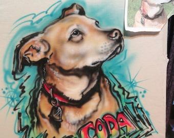 Dog shirt, Personalized Dog gift, custom dog portrait t shirt, personalized tshirts, rescue dog shirt