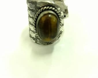 CLEARANCE* Tiger Eye Ring Size Adjustable