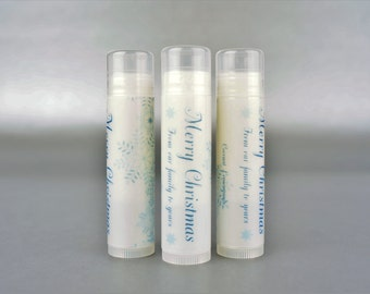 Personalized. Christmas Frost. Lip Balm