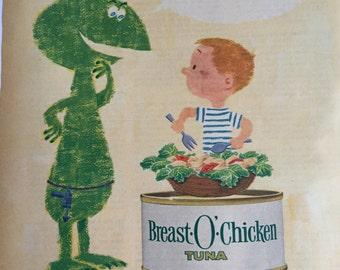 Lot of Vintage 1960s Grocery Ads - 1960s Advertising - Vintage Magazine Ads - Color Magazine Ads