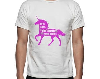 Unicorn Tee Shirt Design, SVG, DXF, EPS Vector files for use with Cricut or Silhouette Vinyl Cutting Machines