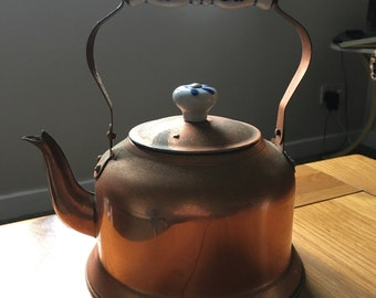 Copper Tea Kettle with Decorative Handle