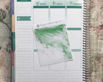 Dark Green Watercolour Headers, Planner Stickers for use with ERIN CONDREN LIFEPLANNER™, Happy Planner, Plum Paper Planner