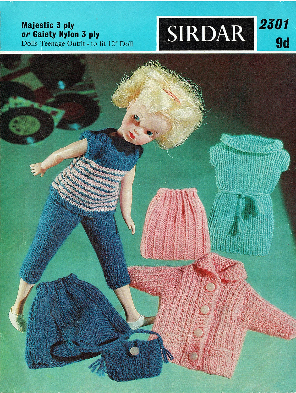 Sirdar Knitting Patterns For Dolls Clothes : PDF Vintage Sindy Barbie Doll Clothes Knitting Pattern ...