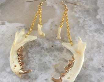 Jaw And Bone Earrings