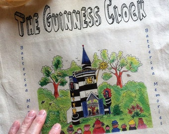 Guinness Clock Tote Bag by artist  Bernie Wighton. It was in Battersea in May 1951 that the first Guinness Festival Clock began to tick!